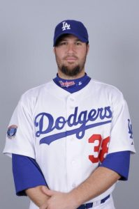 GLENDALE, AZ - FEBRUARY 27: Eric Gagne of the Los Angeles Dodgers poses during Photo Day on Saturday, February 27, 2010 at Camelback Ranch in Glendale, Arizona. (Photo by Ron Vesely/MLB Photos via Getty Images)