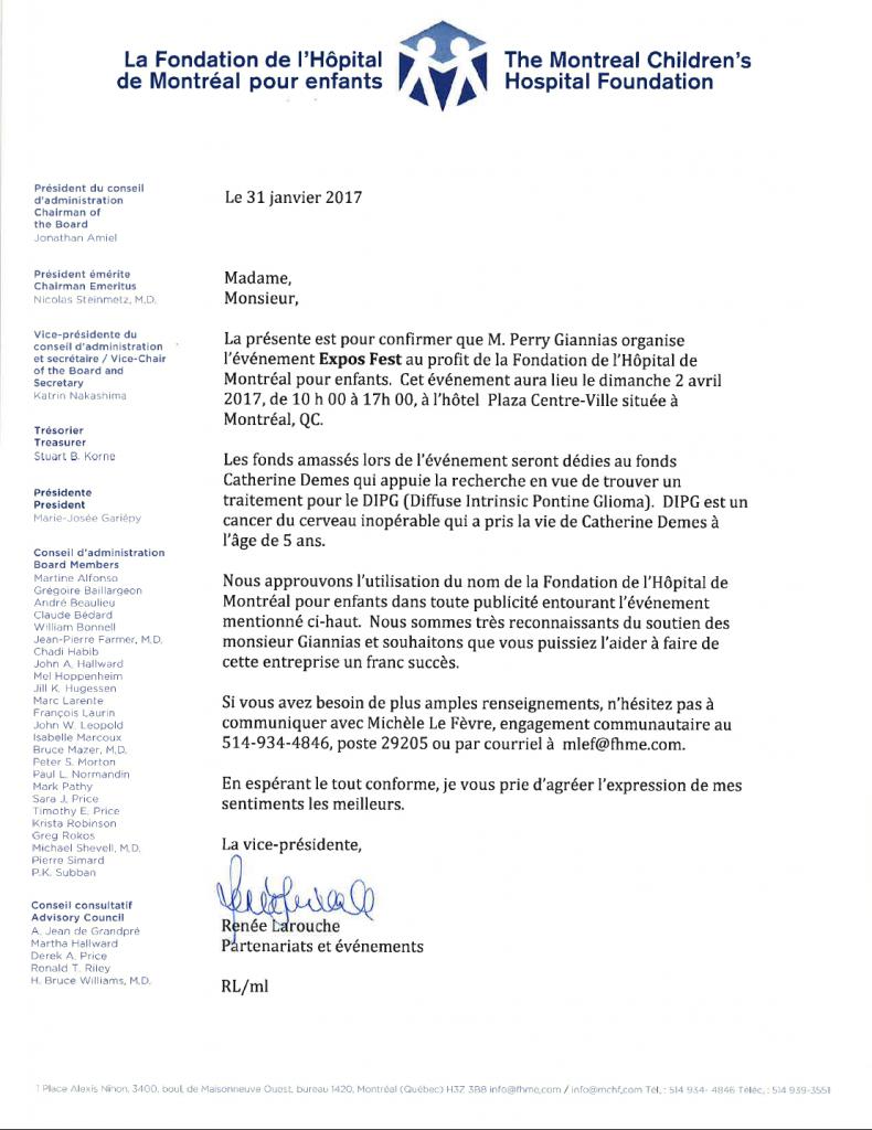 lettre fondation