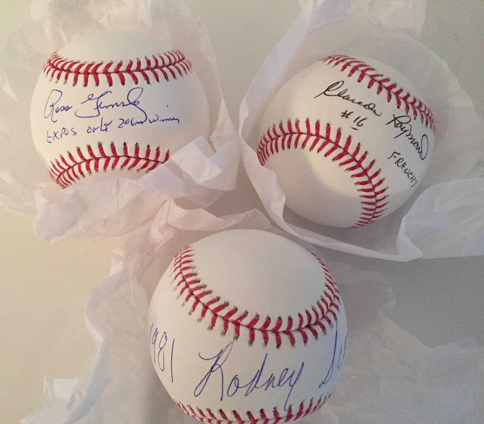 3 Balles signées par Ross Grimsley, Claude Raymond et Rodney Scott