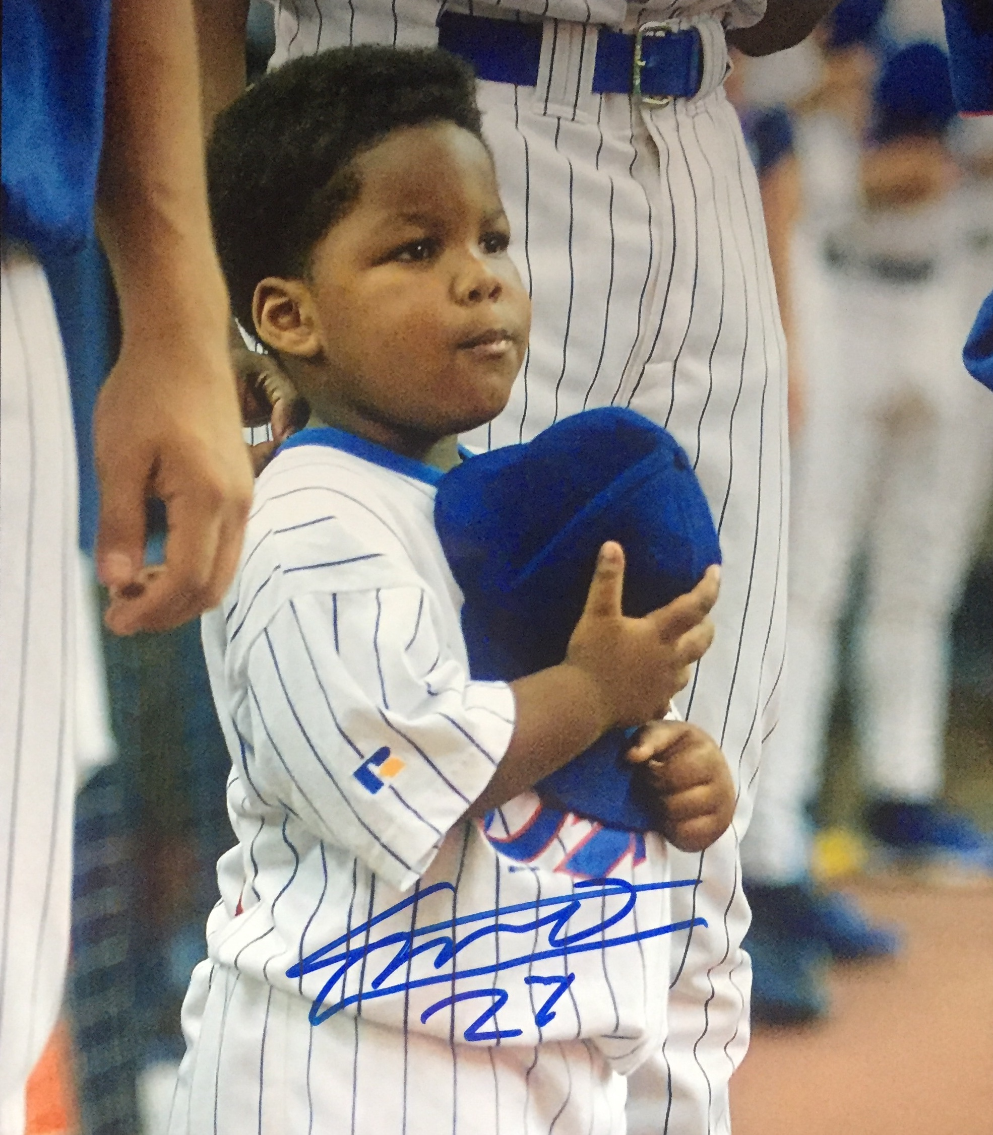 Photo signée par Vlad Guerrero Jr. 2002