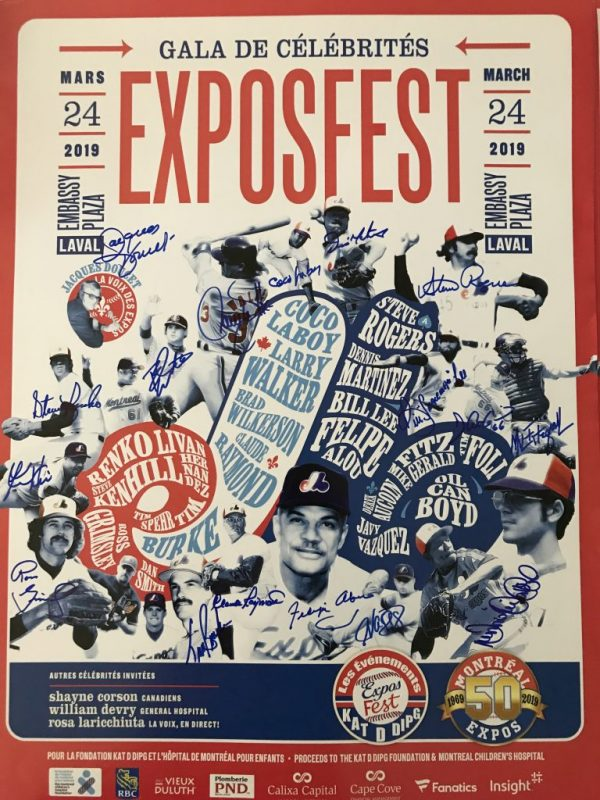 Poster Expos Fest signed by 17 players
