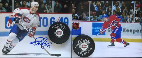 Pucks and Pictures Signed by Shayne Corson & Stéphane Richer