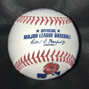 Official Mlb Rob Manfred baseball signed by Abraham Toro