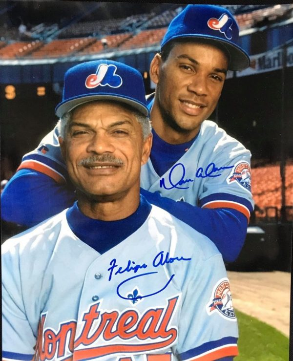 Photo 8x10 signed by Felipe & Moises Alou