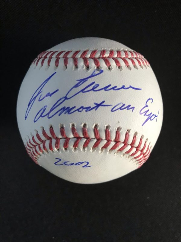 Ball signed by Jose Canseco with Almost an Expo 2002 inscription