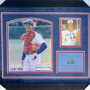 Framed 3x5 photo of Gary Carter