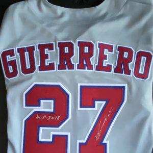 Vladimir Guerrero replica signed roadjersey