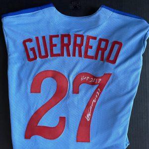 Vladimir Guerrero signed classic powder blue road jersey