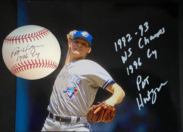 Pat Hentgen signed 8x10 and official Mlb ball combo