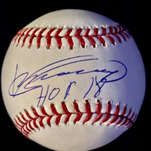 Official Mlb Rob Manfred baseball signed by Vladimir Guerrero with Hof 2018 inscription