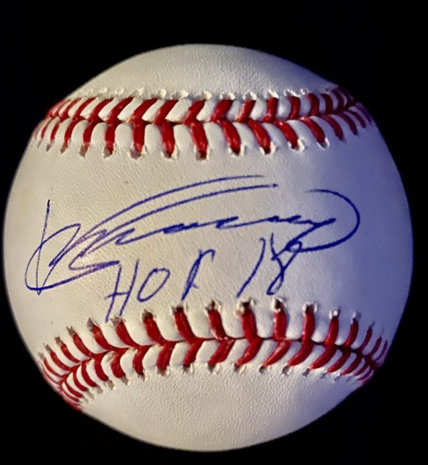 Official Manfred baseball signed by Vladimir Guerrero with Hof 2018 inscription