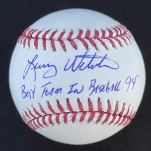 Official Mlb Rob Manfred baseball signed by Larry Webster