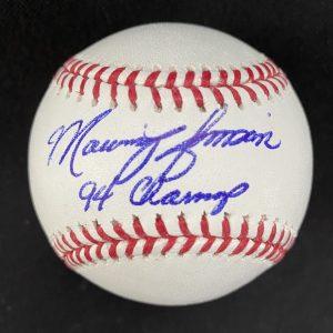 Balle de baseball officielle Rob Manfred signée par Marquis Grissom. 94 Champs
