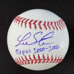 Balle de baseball officielle Rob Manfred signée par Lee Stevens Expos 2000-2002