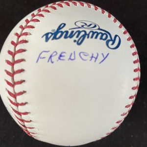 Official Mlb Rob Manfred baseball signed by Claude Raymond with 3 inscriptions.