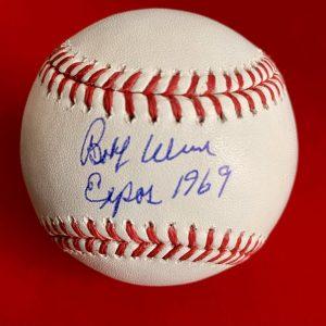 Balle de baseball officielle Rob Manfred signée par Bobby Wine