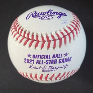 Official Manfred All Star Baseball signed by Vladimir Guerrero Jr. with 1st ASG MVP inscription. Certification Vlad Jr included.