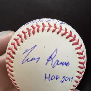 """""""Outfield of Dreams"""" official Manfred signed baseball by Vladimir Guerrero / Tim Raines / Andre Dawson"""